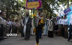 نهمین دوره اردوی ملی پیشتازان پسر سازمان دانشآموزی  در نیشابور  آغاز شد