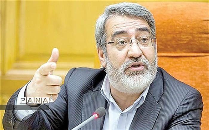 وزیر کشور در خراسان شمالی