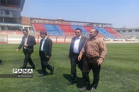 بازدید مدیرکل ورزش و جوانان مازندران از ورزشگاه وطنی قائم شهر