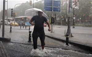 طوفان و باران سیل آسا در «استانبول»