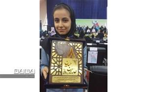 رتبه برتر جشنواره جابر بن حیان کشور به دانش آموز ناحیه یک اهواز رسید