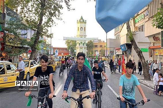 کاروان شادی دوچرخهسواری غدیر دانشآموزان در ساری