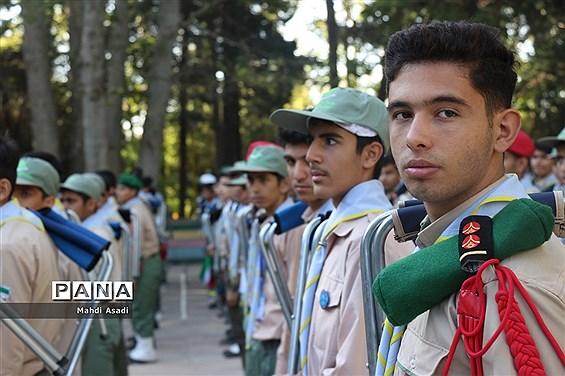 صبحگاه آخرین روز از نهمین دوره اردوی ملی پیشتازان پسر سراسر کشور