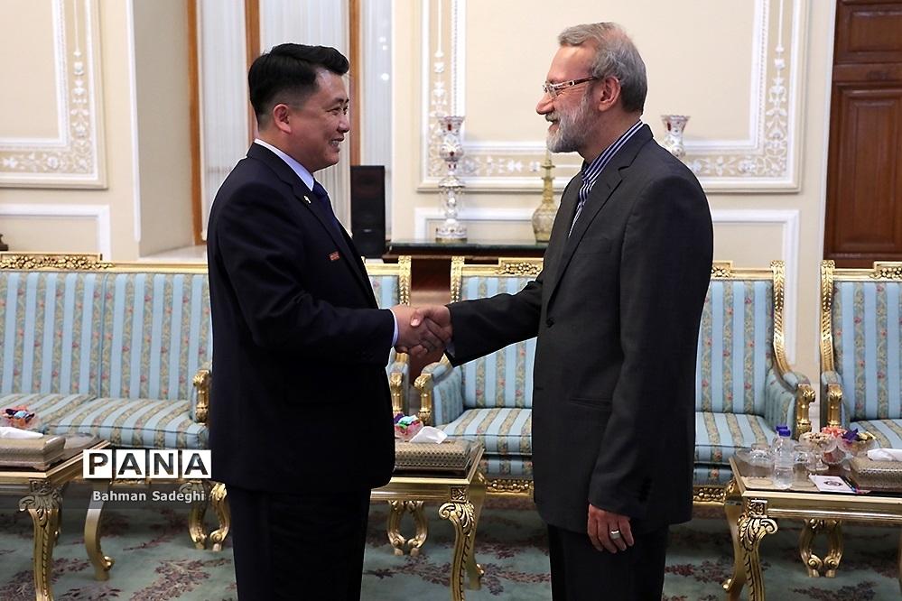 دیدار معاون رئیس مجمع عالی خلق کره شمالی با علی لاریجانی