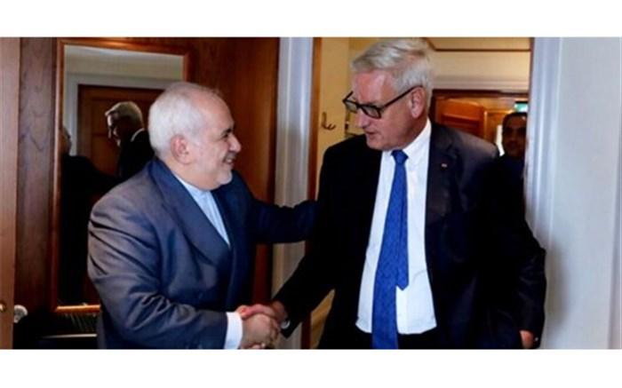 روایت توییتری نخست وزیر اسبق سوئد از دیدارش با ظریف