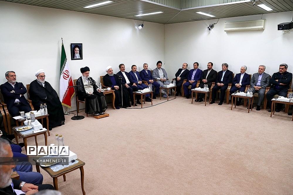دیدار رئیسجمهوری و اعضای هیئت دولت با رهبر معظم انقلاب