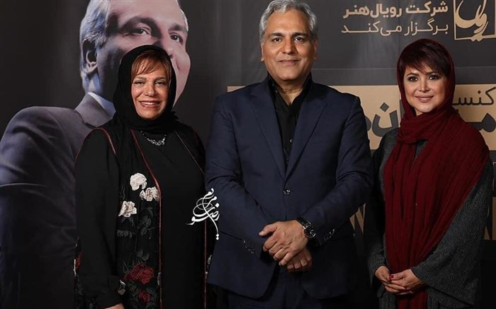 کمند امیرسلیمانی و گوهر خیراندیش در کنسرت مهران مدیری