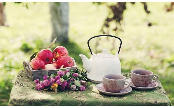 ترکیب سیب و چای