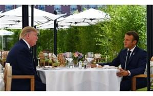 دیدار ترامپ و ماکرون در آستانه نشست گروه ۷