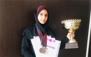 افتخار آفرینی دانش آموز شهرری در مسابقات کشوری ژمیناستیک