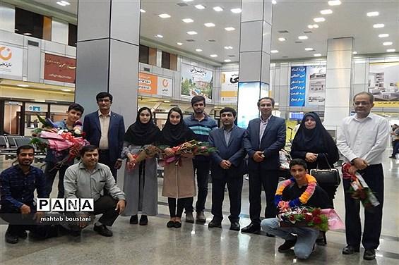 استقبال از دانشآموزان برگزیده استان بوشهر در جشنواره نوجوان خوارزمی مرحله کشوری