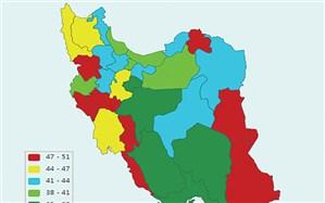 رنگ تورم در ۳۱ استان کشور
