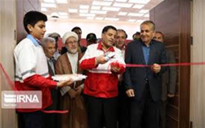 افتتاح سالن هلال احمر