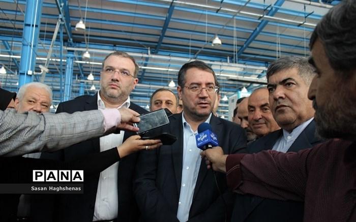 بازدید وزیر صنعت، معدن و تجارت از واحدهای تولیدی و صنعتی اسلامشهر