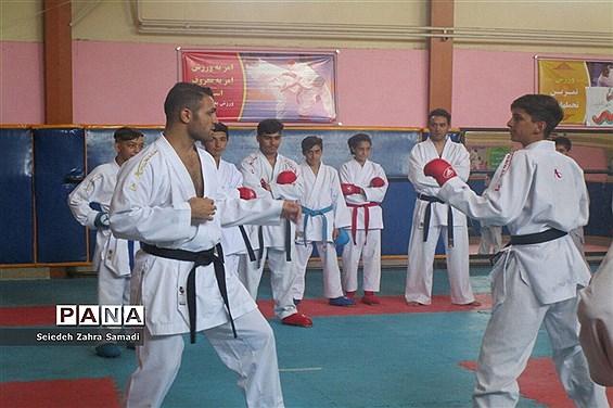 کمپ تمرینی  کاراتهکاهای شهرستان ملارد