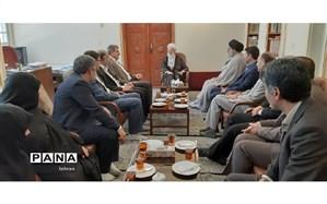 دیدار مدیر کل آموزش و پرورش تهران با آیت الله امامی کاشانی