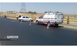 سه مصدوم در حادثه برخورد پراید با حفاظ جاده در محور اندیمشک - پل زال