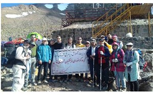 صعود گروه کوهنوردی فرهنگیان شهرستان قدس به قله دماوند