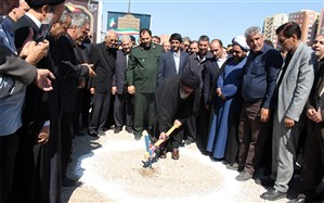 کلنگ احداث مجتمع بزرگ آموزشی و پرورشی مردانی آذر شهرک اندیشه تبریز زده شد