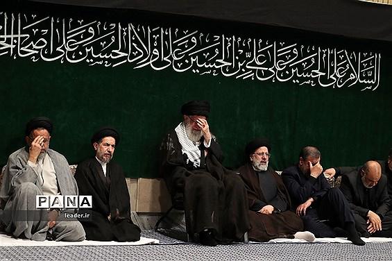 اولین شب عزاداری حضرت اباعبدالله الحسین (ع) با حضور مقام معظم رهبری