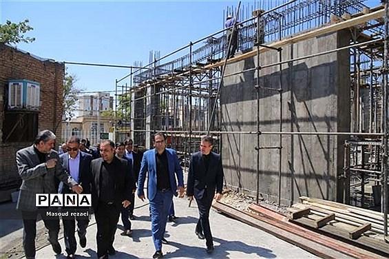 بازدید رئیس سازمان نوسازی مدارس کشور از پروژههای نیمه تمام و ملی میانه