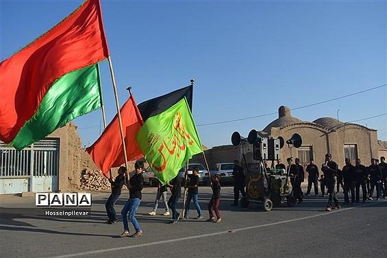 حرکت  هیات های عزاداری در شب تاسوعا در شهرستان خوسف