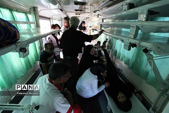 امدادرسانی هلال احمر استان زنجان در عزاداری محرم