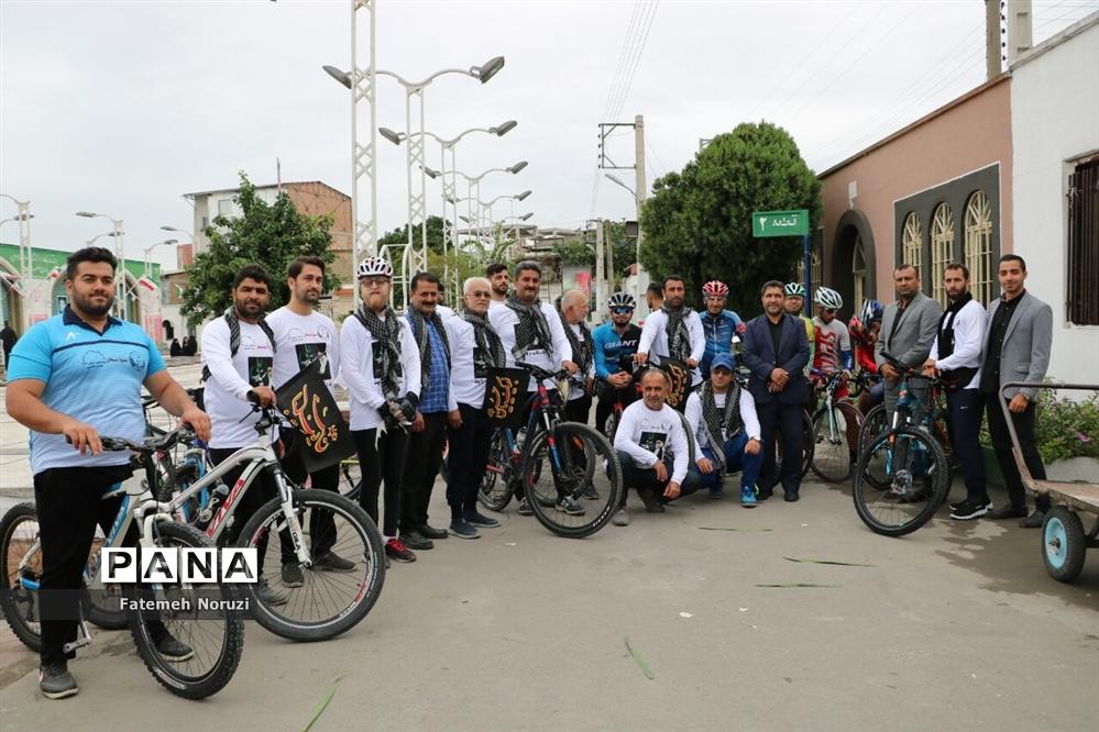 رکابزنی دوچرخهسواران بسیجی مازندران به سمت مشهد