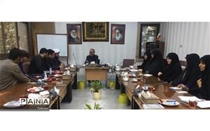 نشست اعضای بسیج جماران، امیرالمومنین(ع) و الغدیر با مدیر آموزش و پرورش منطقه1