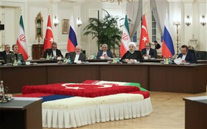 روحانی: افزایش همکاری ایران، روسیه و ترکیه میتواند ضامنی اساسی در حل و فصل بحران سوریه باشد
