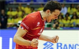 والیبال قهرمانی اروپا؛ خروسها برنده جنگ سرگروهی شدند