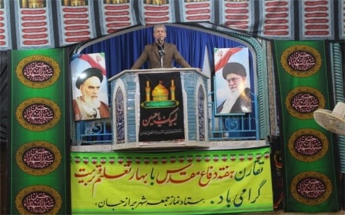 سخنرانی مدیر آموزش و پرورش شهرستان دشتستان در نماز جمعه