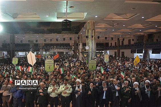 مراسم لبیک یا خامنهای در شهرستان بیرجند