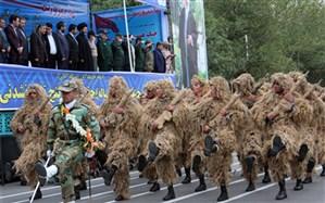 برگزاری مراسم رژه یگان های مسلح در اردبیل