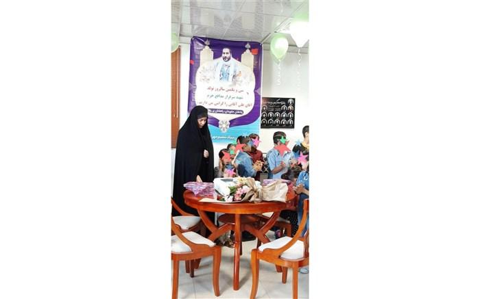 برگزاری مراسم سالروز تولد شهید مدافع حرم توسط کودکان مبتلا به سرطان در اردبیل