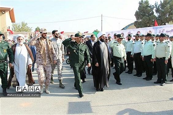 برگزاری مراسم صبحگاه مشترک نیروهای مسلح درشهر قدس