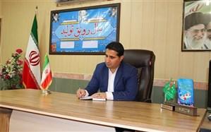 توزیع بسته های لوازم التحریر بین دانش آموزان کم برخوردار در شهرستان امیدیه