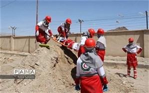 حضور بانوان نجاتگر پاکدشت دردوره استانی جستجو و نجات در آوار