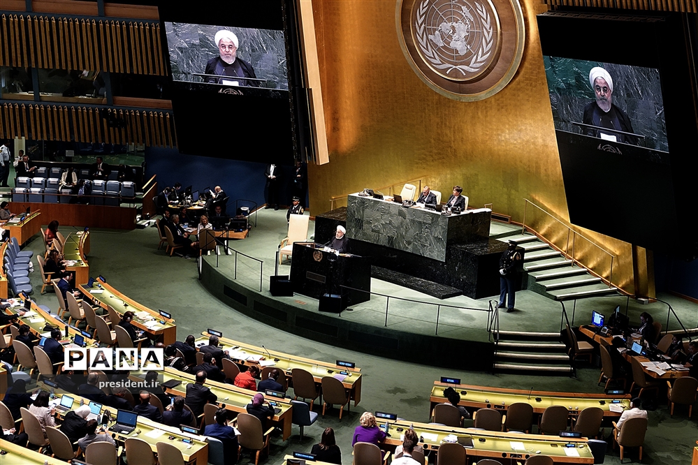 سخنرانی حسن روحانی، رئیس جمهوری، در هفتاد و چهارمین نشست مجمع عمومی سازمان ملل