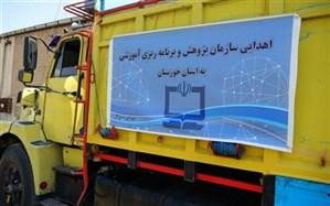 اهدای تجهیزات به مدارس مناطق سیلزده خوزستان از سوی سازمان پژوهش