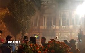 میدان حسنآباد دوباره دچار حریق شد
