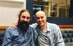 نخستین  عکسی از شهاب حسینی در پشت صحنه ایفای نقش شمس تبریزی