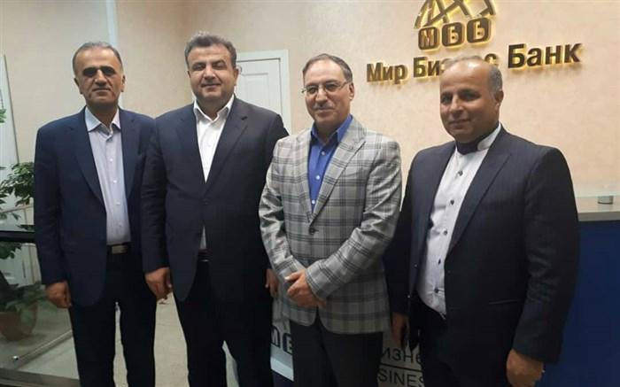 استاندار مازندران با مدیرعامل میربیزنس بانک مسکو دیدار کرد