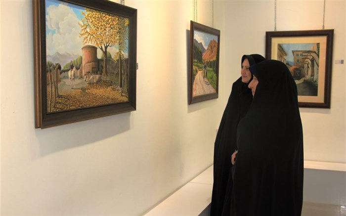 نمایشگاه هنرهای تجسمی فرهنگیان ناشنوای فارس