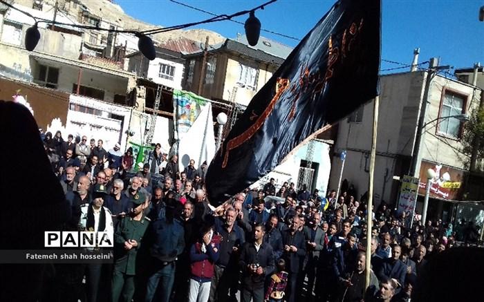 حضور عاشقان حسینی شهرستان فیروزکوه در پیاده روی جاماندگان اربعین حسینی