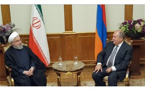 روحانی با رئیس جمهوری ارمنستان دیدار کرد
