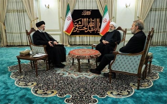 روحانی و لاریجانی و رئیسی