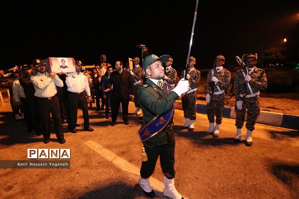 مراسم استقبال از پیکر شهید سردار پاسدار ابراهیم غلامی در جزیره کیش