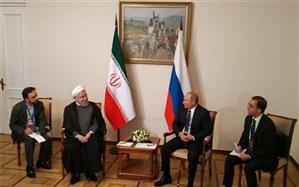روحانی با پوتین دیدار کرد + تصاویر