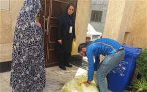 اجرای طرح نمونه برداری پسماندهای خشک در منطقه  بیست